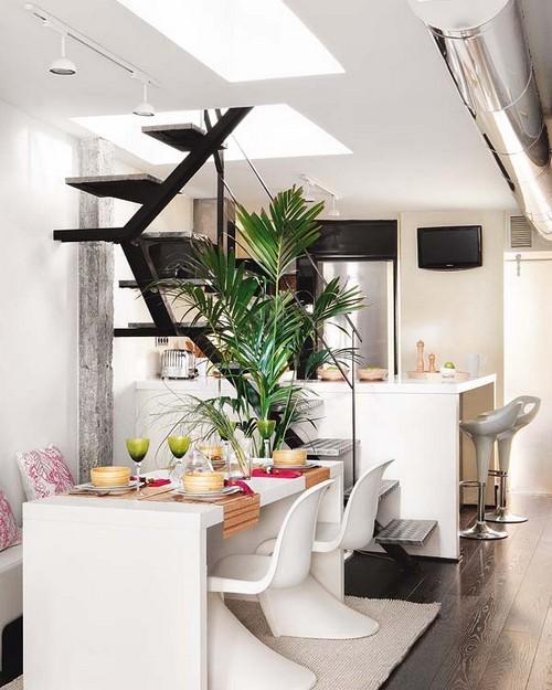 Дизайн лестницы двухуровневой квартиры фото