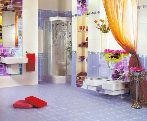 Деколь в ванной комнате