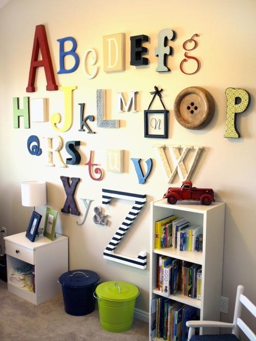 Декор стен - буквы в интерьере