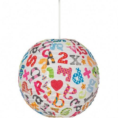 Светильник с буквами для детской комнаты