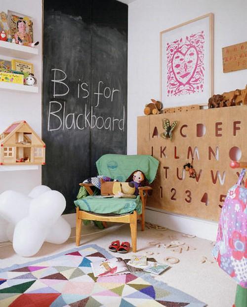 Буквы и надписи в интерьере детской комнаты