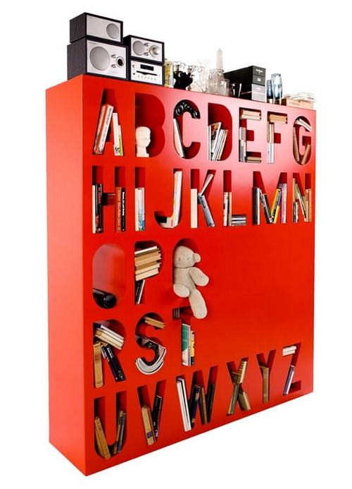 Полки-буквы в интерьере