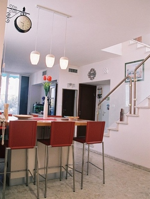 Подвесные оригинальные часы на кухню