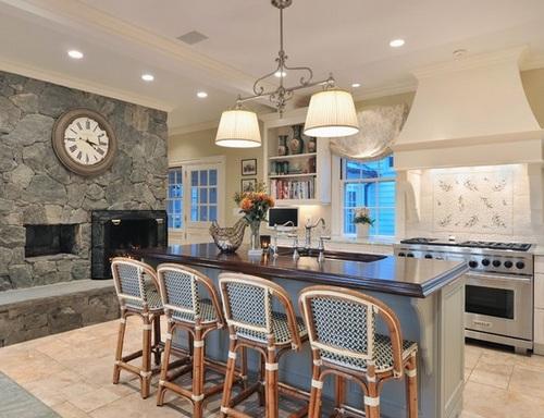 Круглые часы на кухню фото
