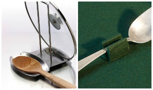 Гаджеты для кухни - подставки для ложек и держатели горячих крышек