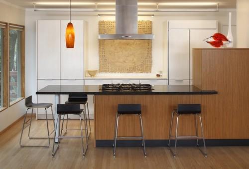Освещение кухни - подвесные светильники