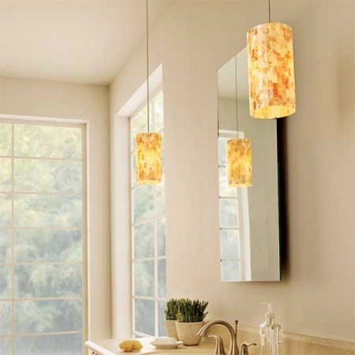 Pendant lighting bathroom