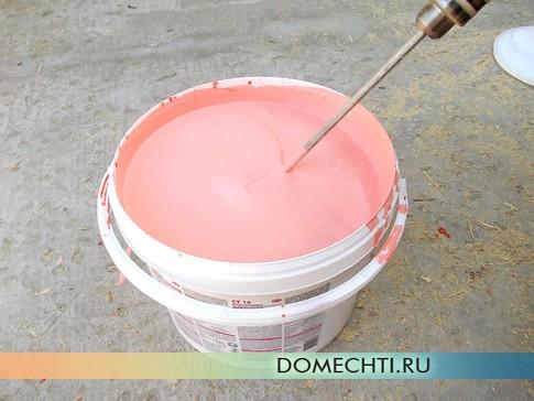 Покраска фасада своими руками - подготовка краски-грунтовки фото
