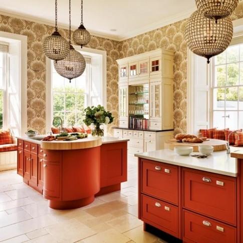 кухня терракотового цвета