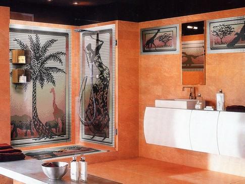 Терракотовый цвет в интерьере ванной комнаты