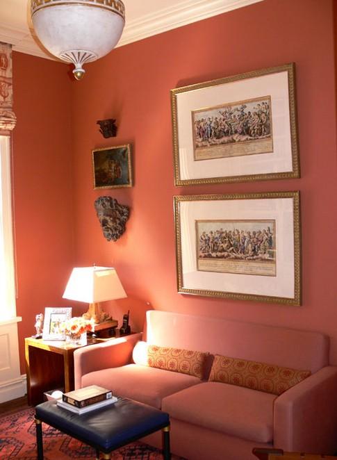 Терракотовый цвет в интерьере Дом Мечты