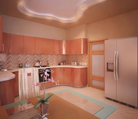 терракотовый цвет кухни