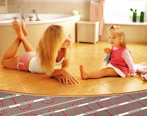 Электрическое отопление - теплый пол в ванной