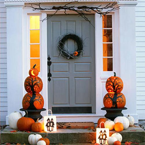 Украшение дома на Хэллоуин фото
