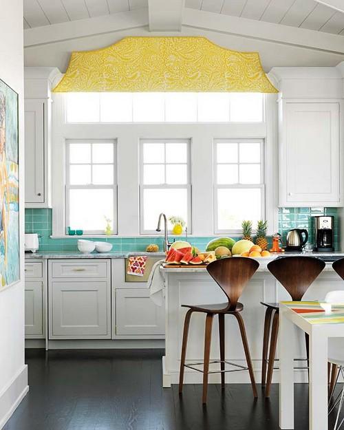 Современная мебель в стиле ретро для кухни