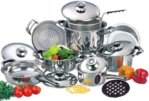 Кухонная утварь и посуда из нержавеющей стали