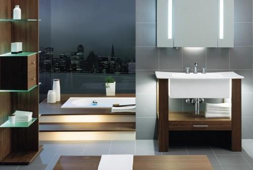 Мойдодыр с раковиной и зеркалом в ванную комнату