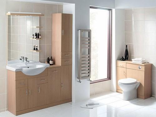 Мойдодыр в ванную с напольными тумбами и шкафом