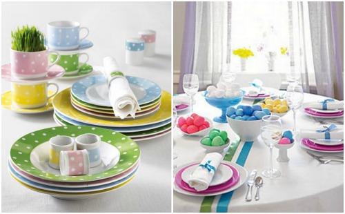 Красивая посуда на Пасху