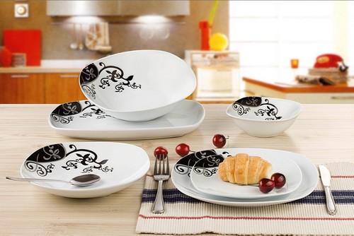 Наборы столовой посуды для кухни с узором
