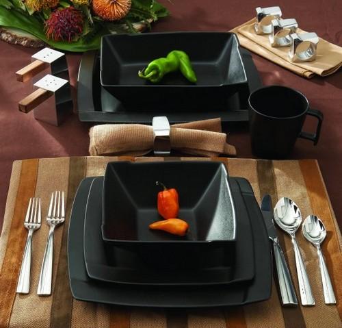 Черная керамическая посуда для кухни Nambe