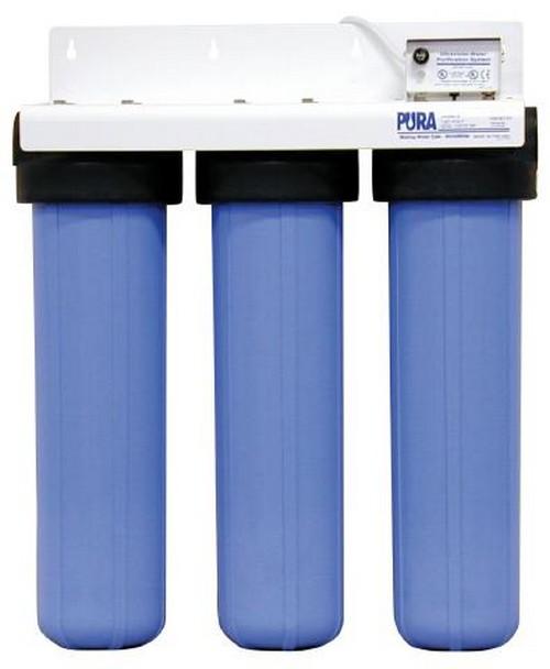 Магистральный фильтр трехступенчатый для очистки водопроводной воды