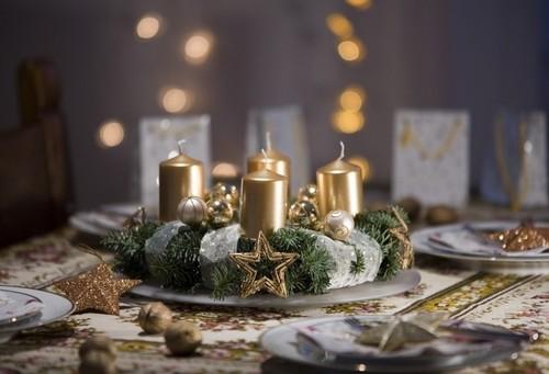 Свечи для украшения новогоднего стола