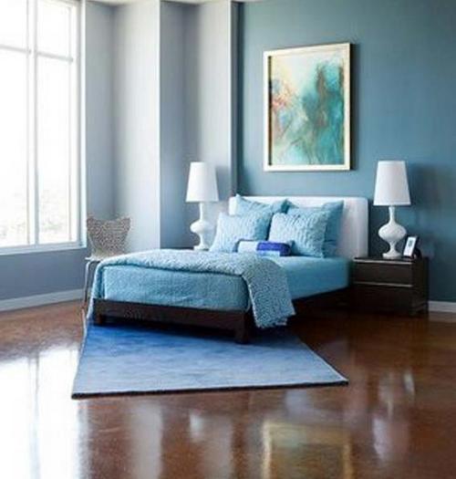 Голубой цвет в интерьере выгодные сочетания 21 фото