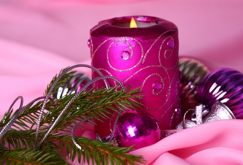 Новогодние композиции со свечами фото