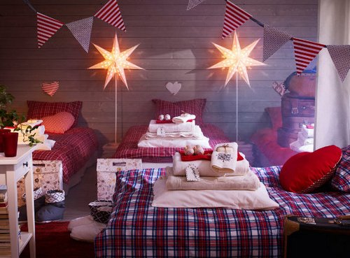 Как украсить детскую комнату к Новому году - идеи от IKEA