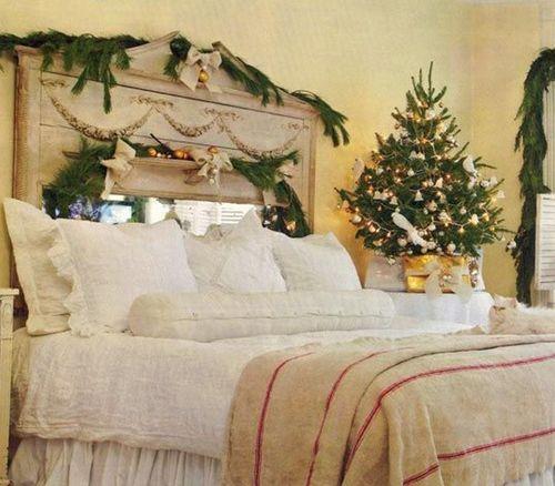 Новогоднее украшение спальни фото
