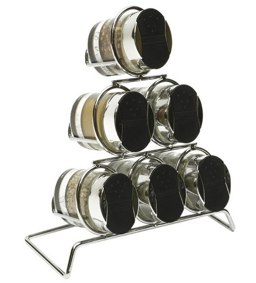 Стильные наборы для специй с металлической подставкой