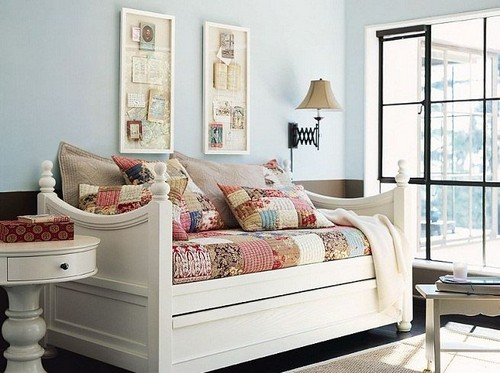 Дневная кровать в стиле пэчворк