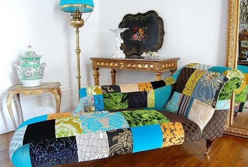 Мебель в стиле пэчворк фото