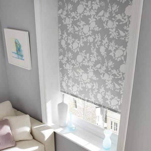 Красивые рулонные шторы для окон с рисунком
