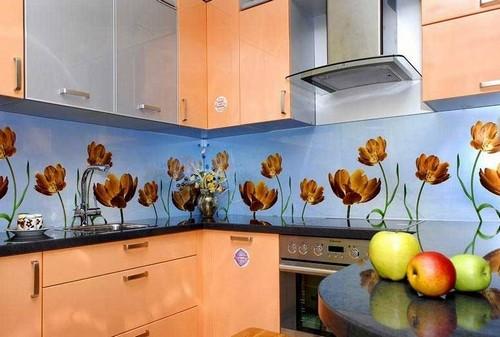 Красивые стеновые панели скинали с фотопечатью