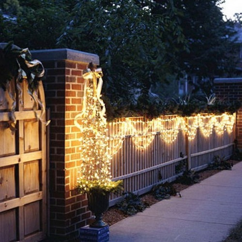 Украшение домов и дворов к Новому году