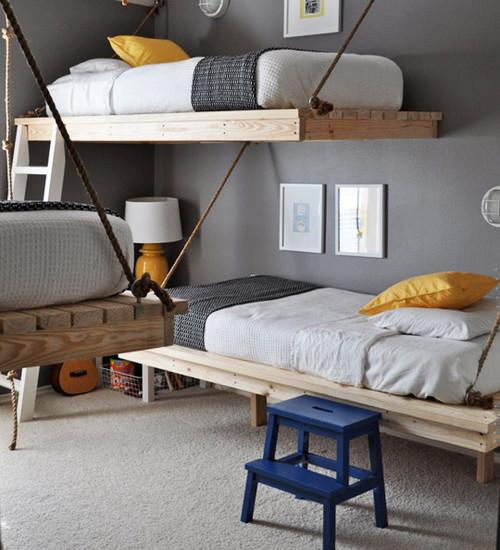 Канат в интерьере - подвесные кровати