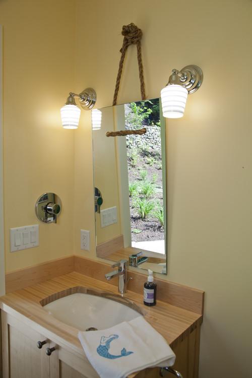 Канаты в интерьере ванной