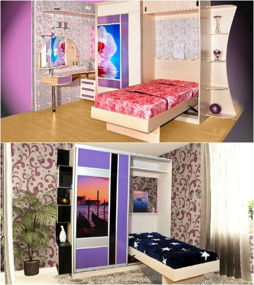 Встроенная кровать в шкаф: стильная экономия места, Дом Мечты