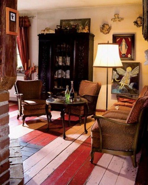 Антикварная мебель в интерьере фото