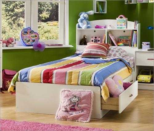 Детские кровати с ящиками для белья