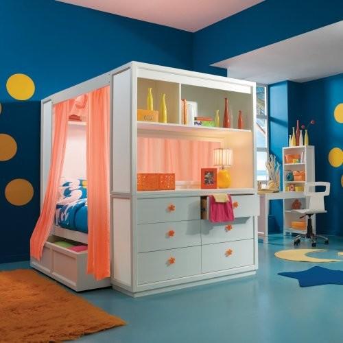 Детская кровать-шкаф для девочки