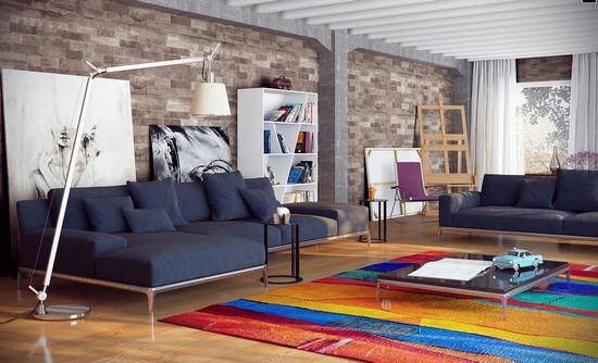 Ковер в современном интерьере гостиной фото