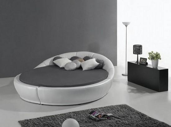 Круглые кожаные кровати фото