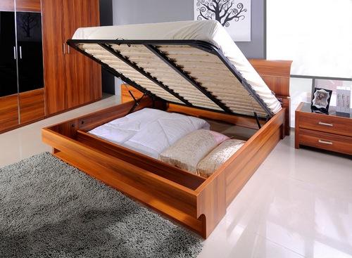 кровати двуспальные с подъемным механизмом