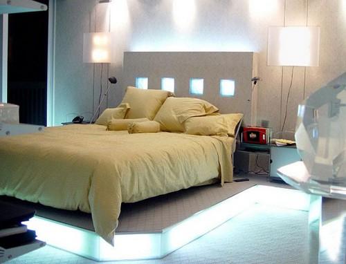 Оригинальное освещение спальни