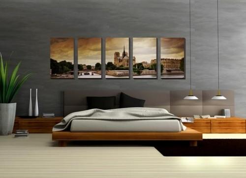 Составное панно на стену в спальню