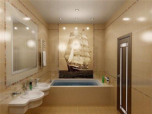 Панно из плитки для ванной