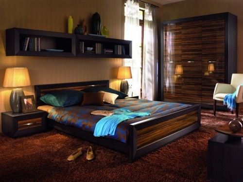 навесные полки над кроватью